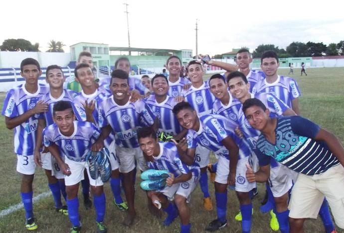 Equipe sub-19 do Comercial-PI no Campeonato Piauiense (Foto: Gil Galvão)