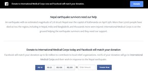 Zuckerberg também anunciou uma campanha para arrecadar fundos para as vítimas no Nepal (Foto: Reprodução/Facebook)