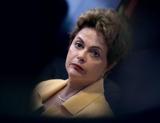 A presidente Dilma Rousseff,madrinha de Picciani.A vitória sobre Cunha  não é garantia de vida fácil na Câmara (Foto: Ueslei Marcelino/Reuters)