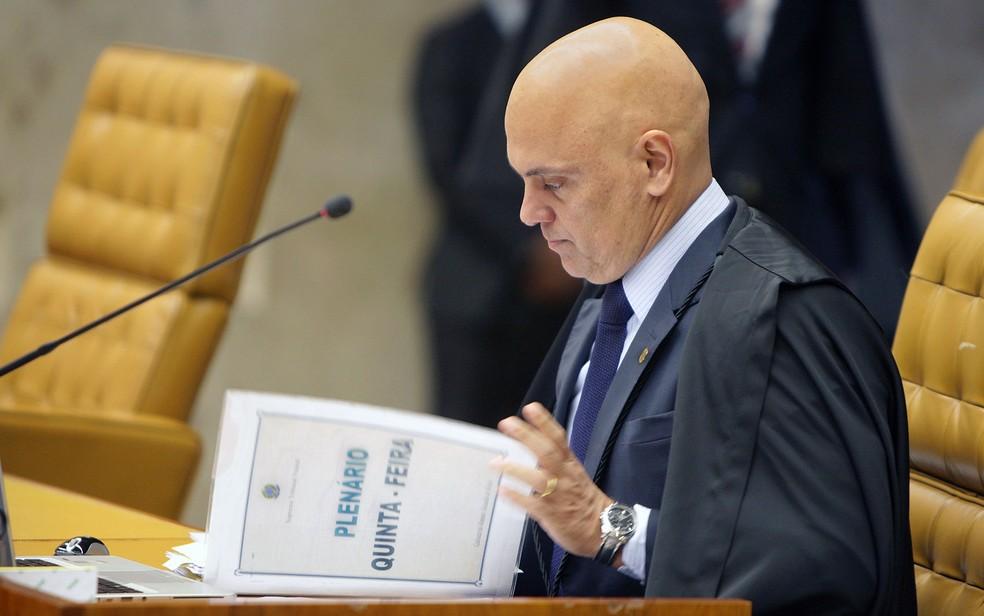 Ministro Alexandre de Moraes durante sessão no STF (Foto: Rosinei Coutinho/SCO/STF)