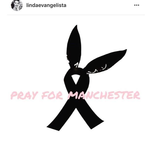 """Linda Evangelista: """"Eu te amo, Manchester"""" (Foto: Instagram/Reprodução)"""