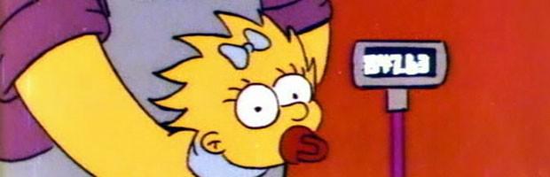 Maggie Simpson e seu 'preço original' na abertura de 'Os Simpsons': US$ 847,63 era o custo anual estimadado para se criar um bebê nos EUA  em 1989 (Foto: Divulgação)