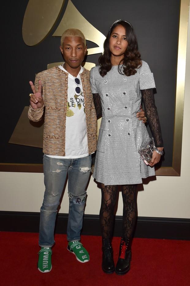 Pharrell Williams e Helen Lasichanh (Foto: Agência Getty Images)