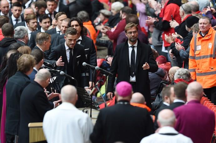 Jurgen Klopp em Anfield aniversário do desastre de Hillsborough (Foto: AFP)