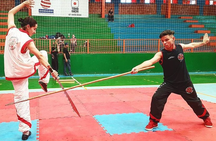 Luis Gustavo na  II Etapa do Estadual de Kung-fu. AMA Campeão Geral (Foto: Luis Gustavo/ arquivo pessoal )