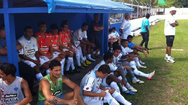 Paysandu venceu o selecionado de Barcarena por 2 a 0 (Foto: Divulgação / Twitter / Junior Furtado)