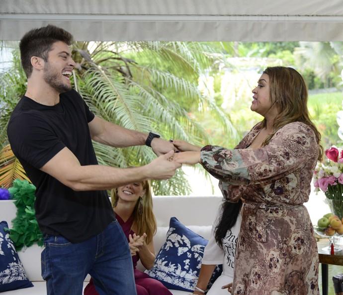 Godoy faz surpresa para Preta Gil (Foto: Ellen Soares/Gshow)