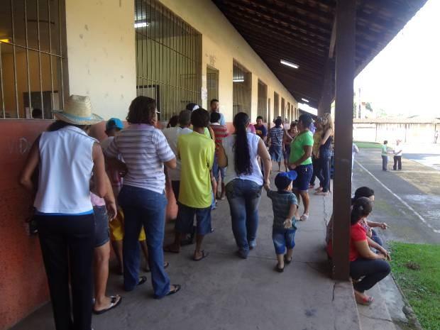 Tranquilidade marca as primeiras horas das eleições em Marituba, PA (Foto: Thais Rezende/G1)