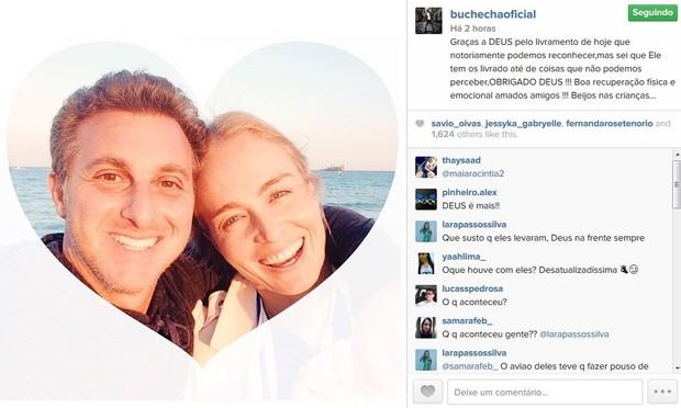 Buchecha escreve mensagem para Angelica e Luciano Huck (Foto: Instagram / Reprodução)