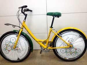 Protótipo de bicicleta que será usada no sistema de aluguel em Campinas (Foto: Divulgação/Brasil em Movimento)