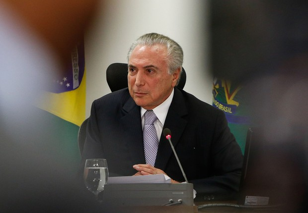 O presidente Michel Temer durante reunião ministerial no Planalto (Foto: Alan Santos/PR)
