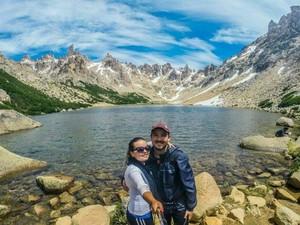 Casal fez trekking na Argentina (Foto: Divulgação/Saindo da Casinha)