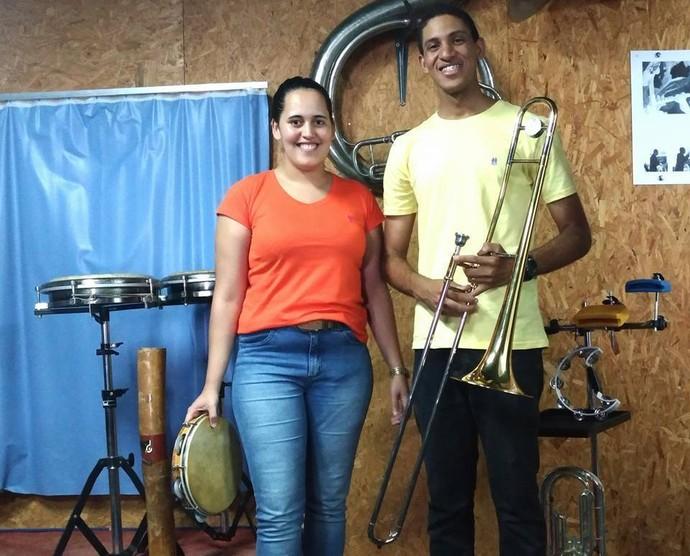 Elaine e Cleiton se conheceram no Rio Grande do Norte, mas dividem os palcos em Santa Catarina (Foto: Elaine Freitas/Arquivo pessoal)
