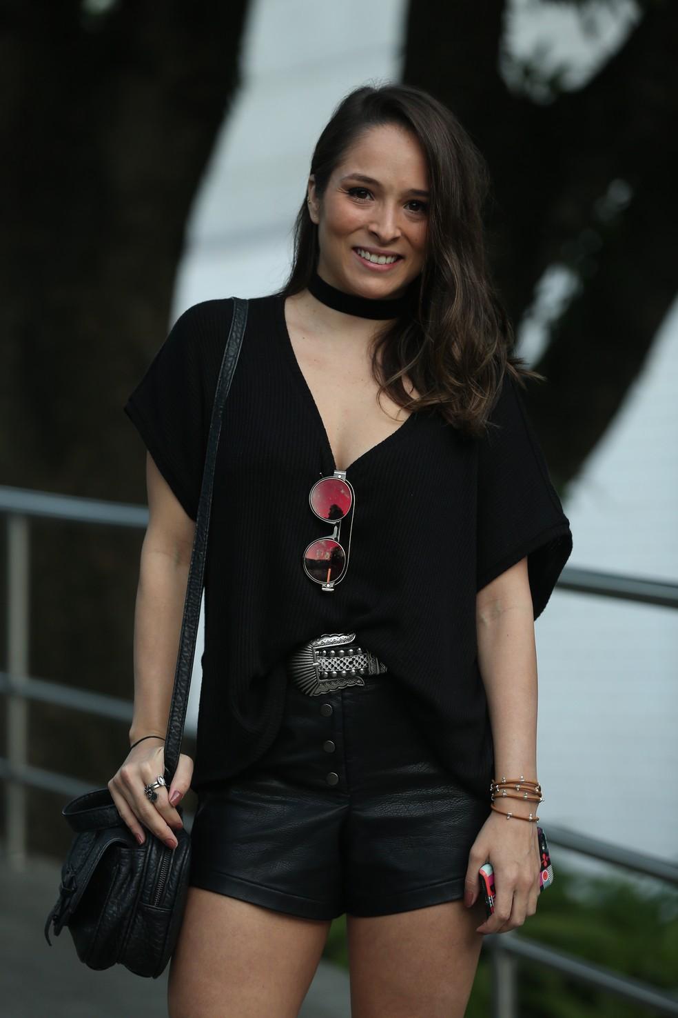 Nathalia Serra  se une aos companheiros de elenco para o último capítulo  (Foto: Isabella Pinheiro/Gshow)