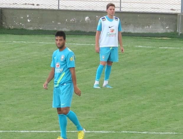 Felipe Anderson e Adryan, Treino seleção sub-20 (Foto: Marcelo Baltar / Globoesporte.com)