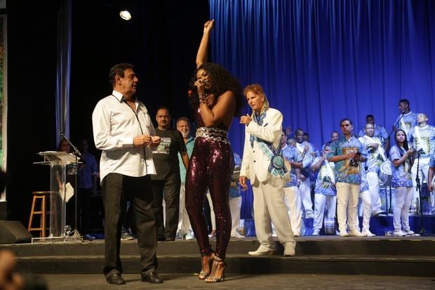 Cris Vianna e Jorge Perlingeiro em evento de samba no Rio (Foto: Francisco Silva/Ag News)