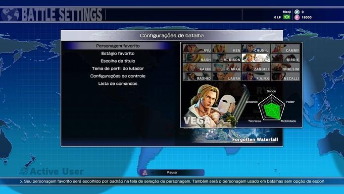 Escolha o personagem favorito em Street Fighter 5 (Foto: Reprodução/Felipe Vinha)