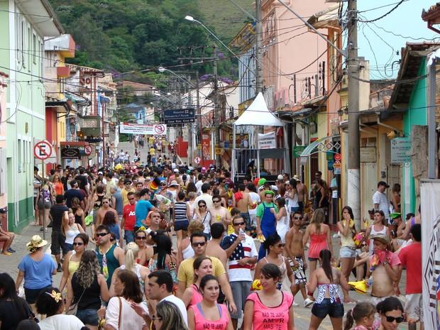 Carnaval em São Luiz do Paraitinga (Foto: Renato Ferezim / G1)