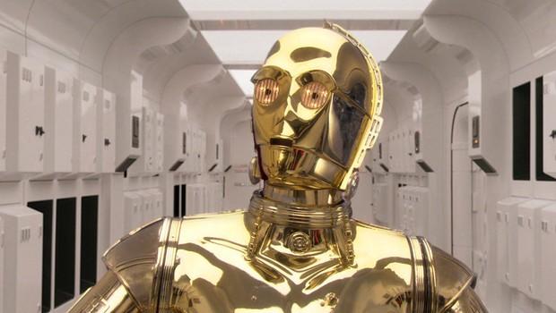 """O robô C3PO, da saga cinematográfica """"Star Wars"""" (Foto: Reprodução/Facebook)"""