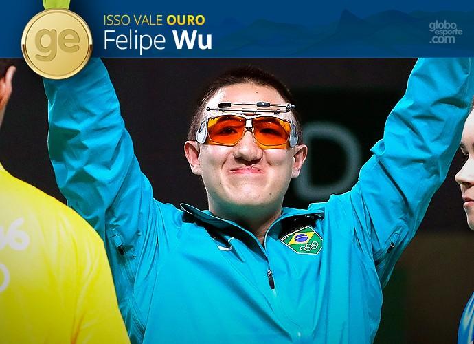 Pódio Olímpico GE - Felipe Wu - Ouro (Foto: Infoesporte)