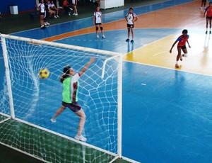 Batista Ludovicense e Portinari jogando pelo infanto feminino, nos Jogos Escolares Maranhenses (JEMs) (Foto: Divulgação)