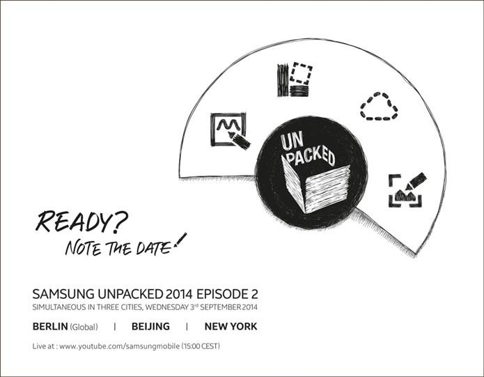Convite para lançamento do Galaxy Note 4 (Foto: Reprodução/Samsung Tomorrow)