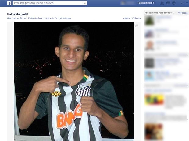 Ruan foi baleado na cabeça durante comemorações após jogo do Brasil (Foto: Reprodução/Facebook)