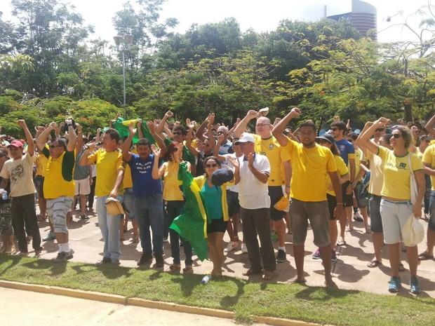 Moradores de Paragominas protestaram contra o governo Dilma. (Foto: Organização do evento/ Divulgação)