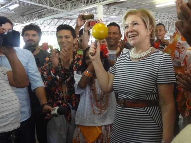Ministra da Cultura participou de cerimônia em Belém (Foto: Luana Laboissiere / G1)