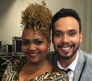Filipe Labre e Gaby Amarantos (Foto: Aline Nunes/Gshow)