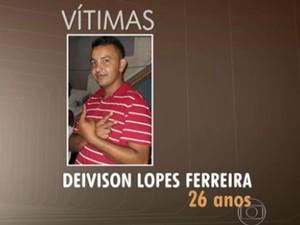 Deivison Lopes Ferreira estava indo para casa (Foto: TV Globo/Reprodução)