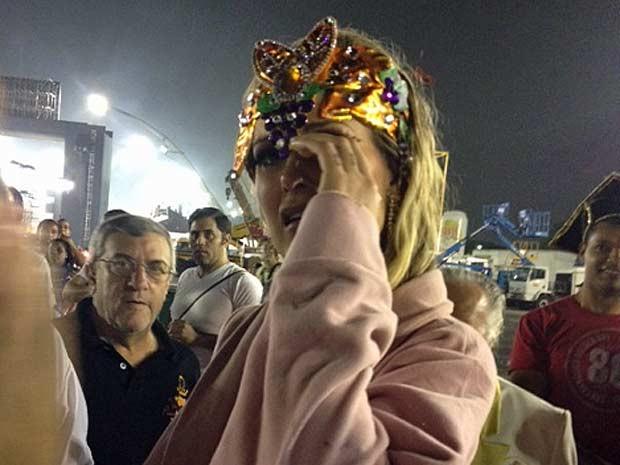 Andressa Urach desiste de desfile (Foto: Clara Velasco/G1)