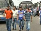 Rodoviários fazem protesto na BR-316 contra a insegurança