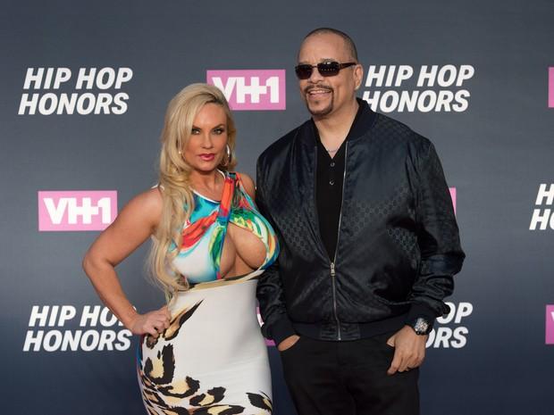 Cocoa e Ice-T em premiação em Nova York, nos Estados Unidos (Foto: Bryan R. Smith/ AFP)