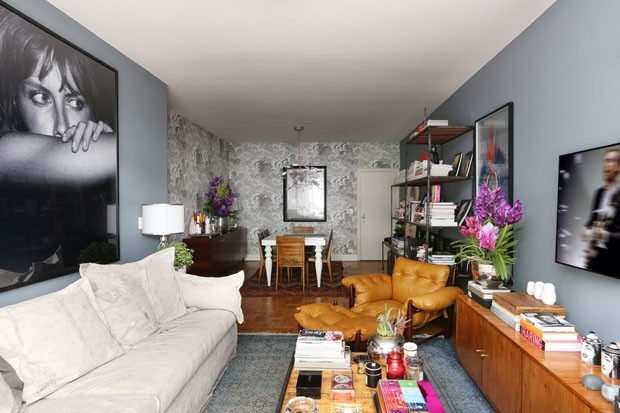 Sala De Estar Cinza Com Amarelo ~ Sala cinza 18 ideias para a decoração  Casa Vogue  Ambientes