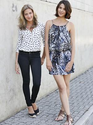 Hanna e Paula exibem beleza e charme nos bastidores de Alto Astral (Foto: Ellen Soares / Gshow)