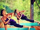 Gisele Bündchen pratica ioga: 'Uma linda maneira de começar o dia'