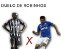 Drible x passe: diferenças no duelo de Robinhos em Atlético-MG e Cruzeiro