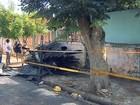Mãe de bebê que morreu carbonizado em incêndio em casa é enterrada