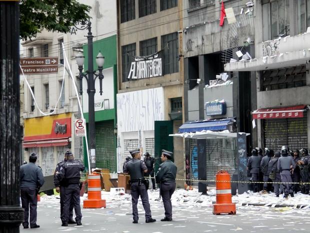 Reintegração de posse no Centro de SP (Foto: Newton Menezes/Futura Press/Estadão Conteúdo)