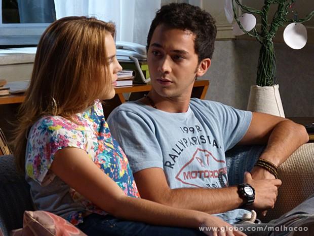 Depois de uma conversa, Ben e Anita voltam às boas (Foto: Malhação / TV Globo)