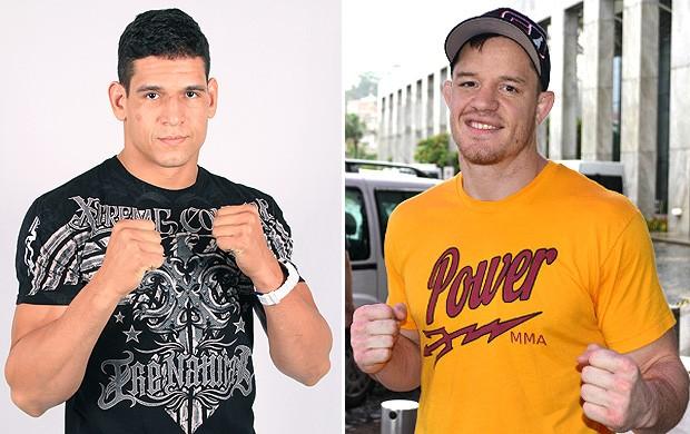 montagem UFC Cezar Mutante e CB Dollaway (Foto: Editoria de Arte / Globoesporte.com)