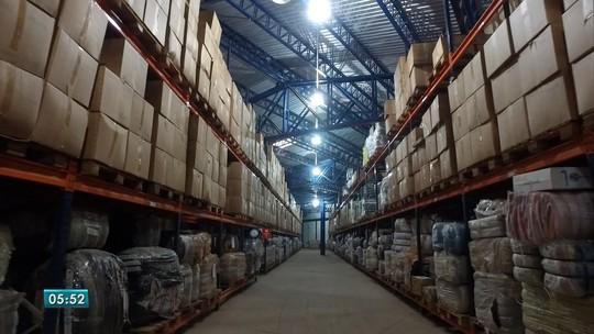 Galpão da Receita, na fronteira, está lotado de mercadorias apreendidas