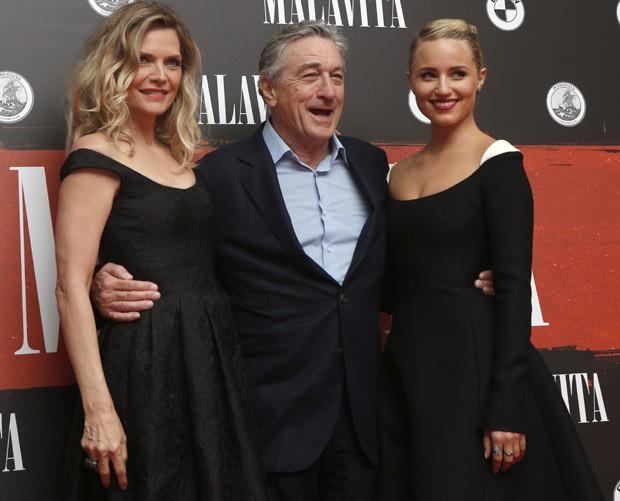 Michelle Pfeiffer, Robert DeNiro e Dianna Agron (Foto: AP)