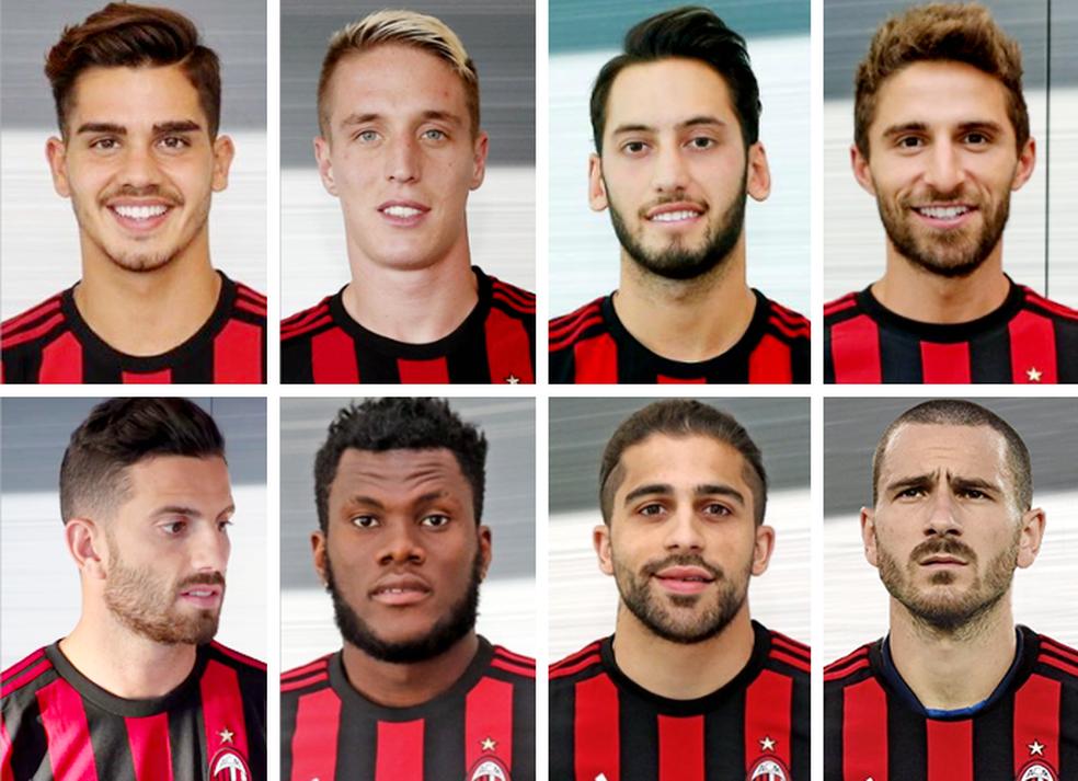 Contratações do Milan até o momento (Foto: Globoesporte.com)