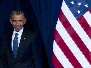 O presidente dos EUA, Barack Obama, chega para falar sobre as mudanças na espionagem americana nesta sexta-feira (17) (Foto: AFP)