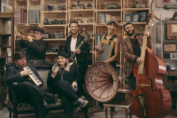 A nova formação da Gringo's Washboard Band (Foto: Divulgação)