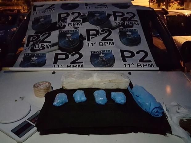 Droga foi apreendida (Foto: Divulgação/Polícia Militar)