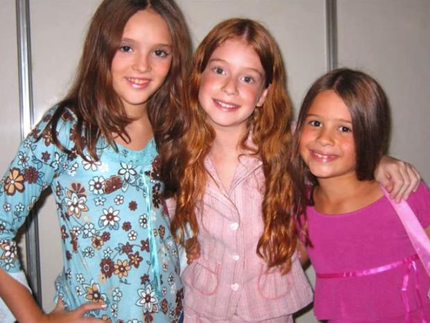Isabelle Drummond, Mariana Ruy Barbosa e Maria Mariana quando crianças (Foto: Reprodução / internet)