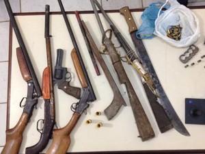 Suspeito de latrocínio é preso com sete armas de fogo no nordeste do PA (Foto: Divulgação/Polícia Civil)